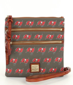 Dooney & Bourke NFL Collection Tampa Bay Buccaneers Triple-Zip Cross-Body Bag - PEWTER - STYLE