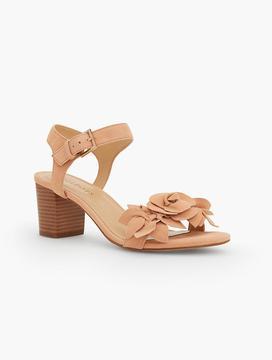 Talbots Trisha Floral Suede City Sandals