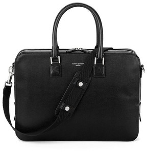 Aspinal of London Small Mount Street Bag In Black Saffiano