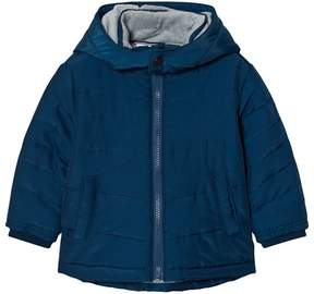 BOSS Navy Puffer Coat with Fleece Lining