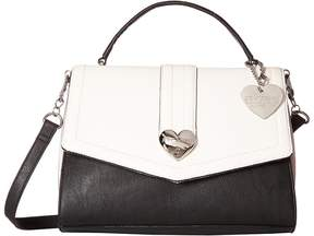 Betsey Johnson Heart Lock Satchel Satchel Handbags