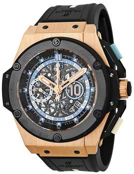 Hublot King Power Maradona Skeleton Dial Automatic Men's Watch