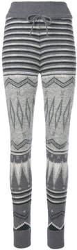 Cruciani patterned knit leggings