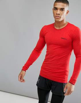 Craft Sportswear Active Comfort Running Knitted Long Sleeve Top In Red 1903716-2566