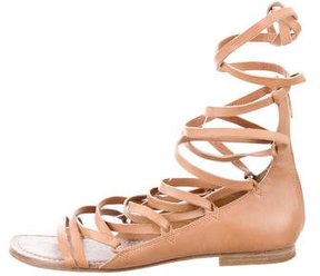 Belle by Sigerson Morrison Leather Lace-Up Sandals