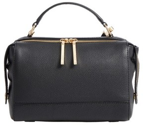 Milly Astor Leather Top Handle Satchel - Black