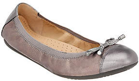 Geox Leather or Suede Flats with Bow Detail - Lola
