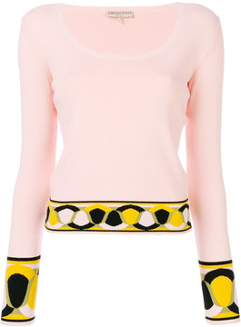 Emilio Pucci scoop neck knitted top