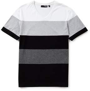 Murano Liquid Luxury Slim-Fit Stripe Short-Sleeve V-Neck Tee