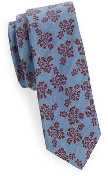 Joe's Jeans Collection Men's Floral-Print Slim Cotton Tie