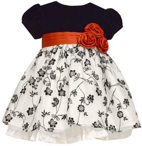 Bonnie Jean Baby Girl Velvet Floral Dress