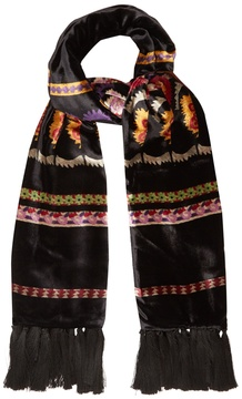 Etro Aztec-print velvet and silk scarf