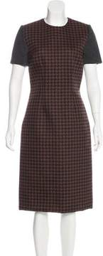Mulberry Houndstooth Midi Dress