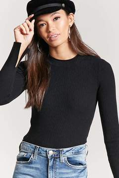 Forever 21 Ribbed Sweater-Knit Top