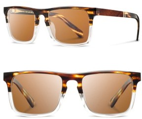 Shwood Men's 'Govy 2' 52Mm Polarized Sunglasses - Whiskey Soda/ Brown