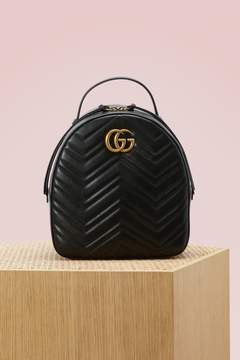 Gucci GG Marmont quilted leather backpack - PORCEL ROSE PORC ROS - STYLE