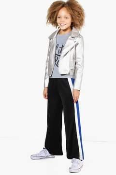boohoo Girls Double Stripe Wide Leg Crepe Trouser