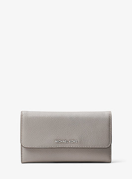 Michael Kors Mercer Tri-Fold Leather Wallet - GREY - STYLE