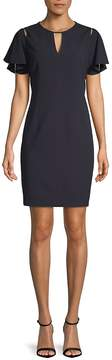 T Tahari Women's Lovie Ruffle-Sleeve Sheath Dress