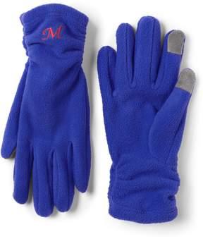 Lands' End Lands'end Women's 100 Fleece Ruched EZ Touch Gloves