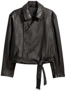 H&M Double-breasted Leather Jacket