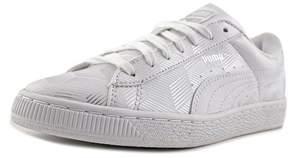 Puma Basket Classic Metallic Youth US 4.5 White Sneakers