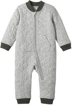 Joe Fresh Baby Boys' Quilted Bodysuit, Light Grey Mix (Size 18-24)