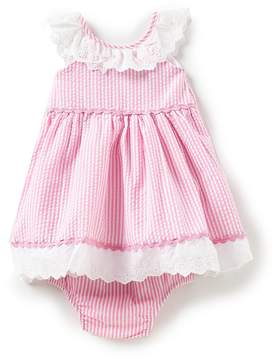 Rare Editions Baby Girls 12-24 Months Vertical-Stripe Seersucker Dress
