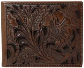 Ariat Bifold Floral Embossed Wallet Wallet Handbags