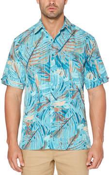 Cubavera Short Sleeve Leaf Button-Front Shirt
