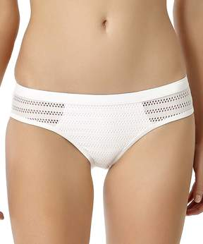 Anne Cole White Crochet-Trim Bikini Bottoms - Women