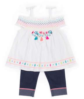 Little Lass 2-pc. Skimmer Legging Set Baby Girls