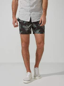 Frank and Oak 5 Foliage Print Swim Trunks