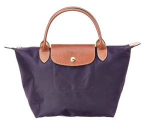 Longchamp Le Pliage Small Nylon Top Handle. - PURPLE - STYLE