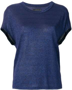 RtA glitter-effect fitted T-shirt