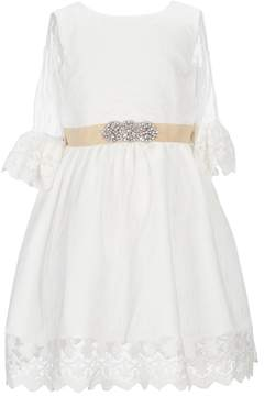 Us Angels Little Girls 2T-6X Swiss Dot Dress