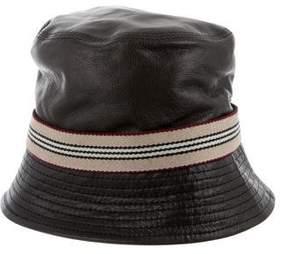Burberry Leather Bucket Hat