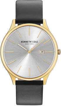 Kenneth Cole New York Kenneth Cole Men's Black Leather Strap Watch 42mm KC15096001