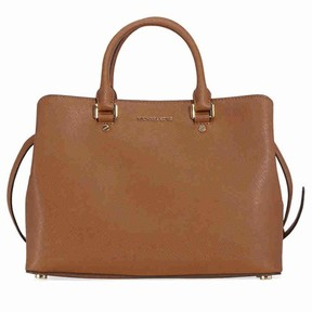 Michael Kors Savannah Large Saffiano Leather Satchel - Luggage - BROWNS - STYLE