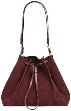 Medium Nubuck Bucket Shoulder Bag