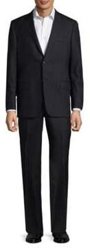 Hickey Freeman Striped Wool Suit