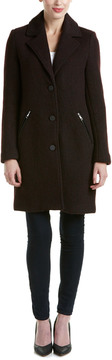 Andrew Marc Tara Pressed Boucle Wool-Blend Coat