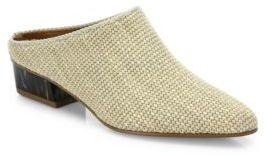 Aquatalia Fife Woven Block Heel Mules