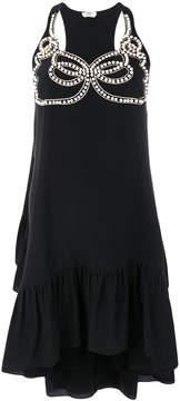 Fendi faux-pearl embellished dress