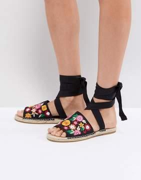Asos JAC Embroidery Espadrille Sandals
