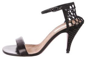 Nina Ricci Grommet Leather Sandals