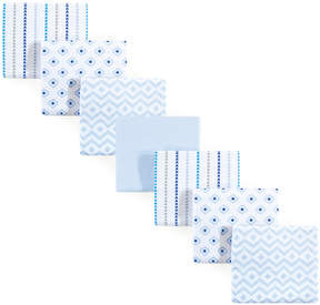 Hudson Baby Blue Geometric Flannel Receiving Blankets - Set of Seven
