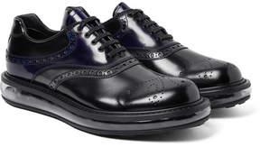 Prada Polished-Leather Oxford Brogues