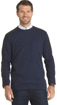 Arrow Men's Classic-Fit Colorblock Fleece Crewneck Sweater