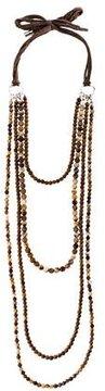 Brunello Cucinelli Agate & Wood Multistrand Necklace